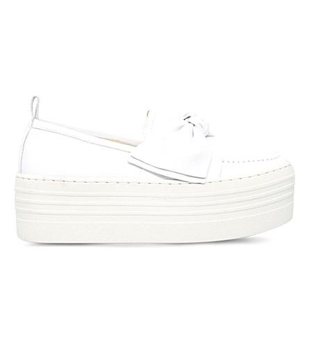 KG KURT GEIGER Lucky leather flatform shoes (White