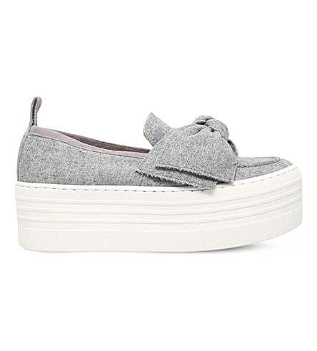 KG KURT GEIGER Lucky flatform shoes (Grey
