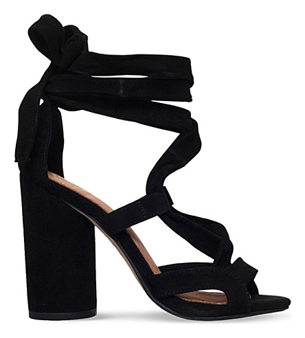 KG KURT GEIGER Mia suedette heeled sandals (Black