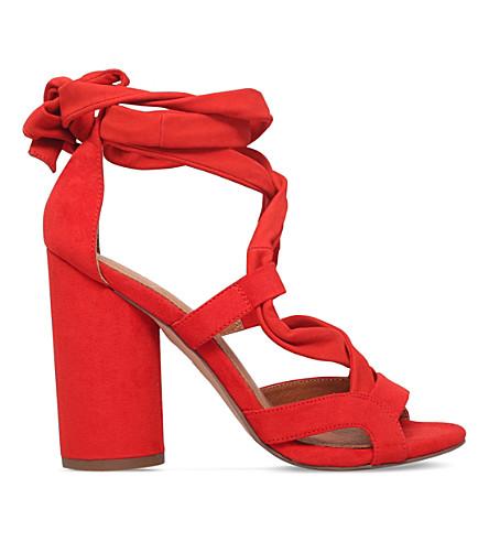 KG KURT GEIGER Mia suedette heeled sandals (Orange