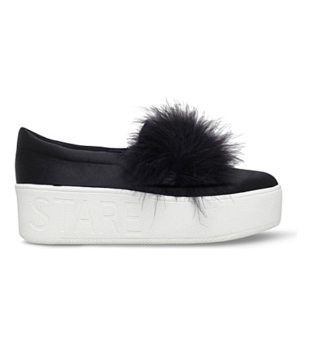KG KURT GEIGER Lulu satin flatform skate shoes (Black