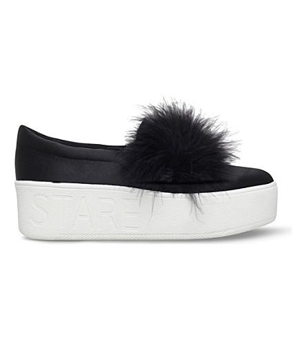 KG KURT GEIGER Lulu satin flatform skate shoes (Black