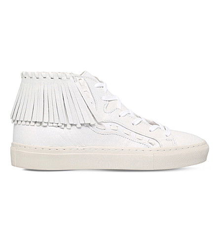 KG KURT GEIGER Lakes leather high-top trainers (White