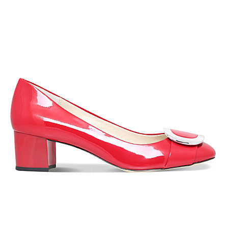MICHAEL MICHAEL KORS Pauline patent-leather courts (Red
