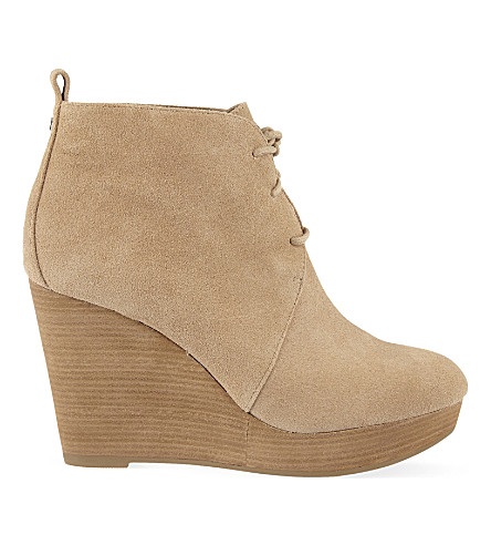 MICHAEL MICHAEL KORS Pierce suede wedge ankle boots (Nude