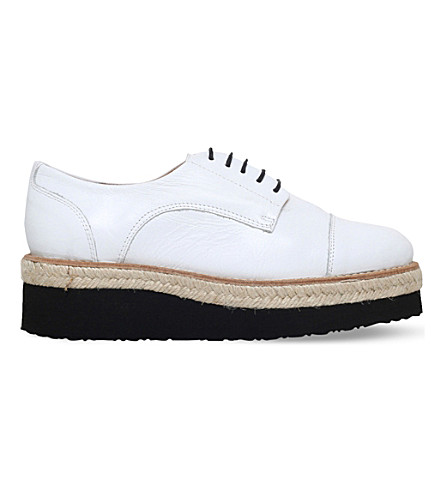 CARVELA Lila leather flatform brogues (White