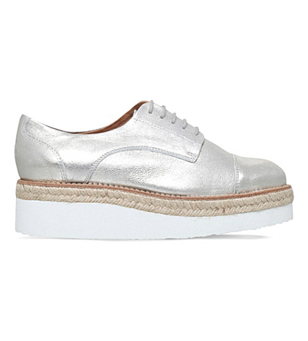 CARVELA Lila leather flatform brogues (Silver