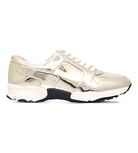CARVELA Lacrosse metallic trainers (Gold