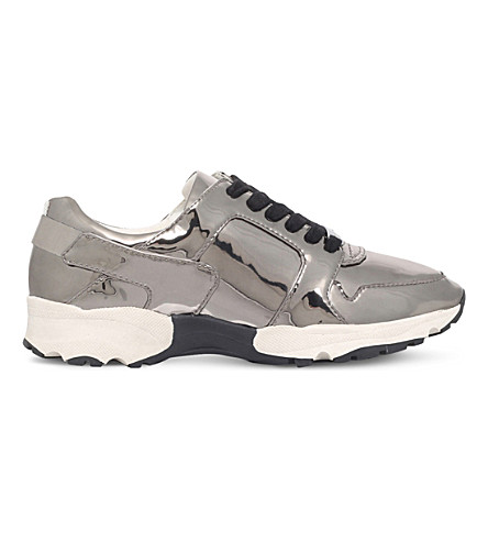 CARVELA Lacrosse leather trainers (Gunmetal