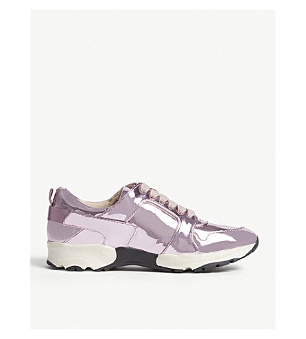 CARVELA Lacrosse metallic leather trainers (Pink