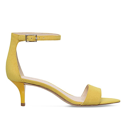 NINE WEST Leisa faux-suede sandals (Yellow