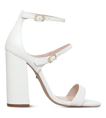 CARVELA Genetic leather heeled sandals (White
