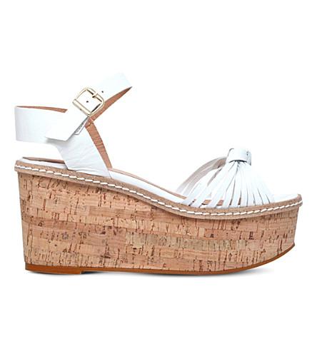 CARVELA Katrina leather wedge sandals (White