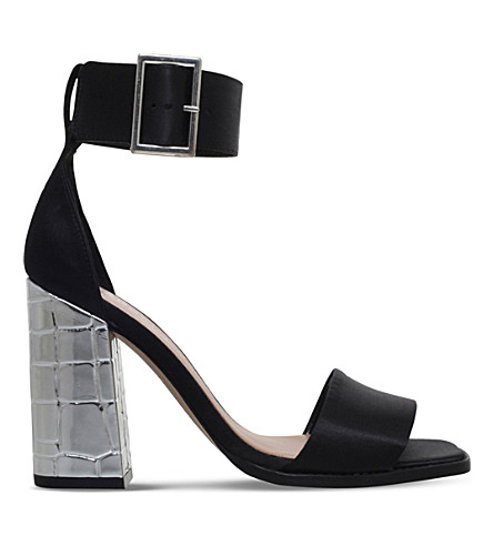 CARVELA Komet satin heeled sandals (Black