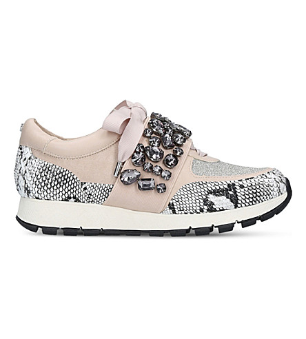 KG KURT GEIGER Lovely embellished sneakers (Beige+comb