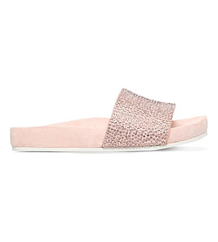 KG KURT GEIGER Missy embellished slider sandals (Nude