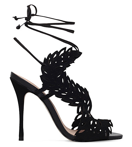 KG KURT GEIGER Horatio cut-out suede sandals (Black
