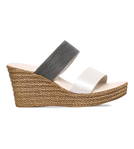 CARVELA COMFORT Sybil textured wedge sandals (Beige+comb