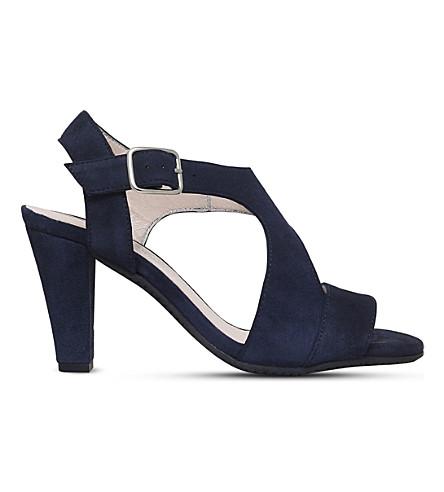 CARVELA COMFORT Simona suede strappy sandals (Navy