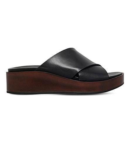 CARVELA Klimb leather wedge sandals (Black