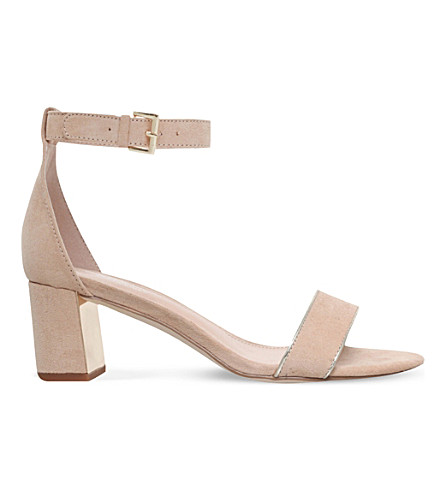 CARVELA Gospel suedette heeled sandals (Nude