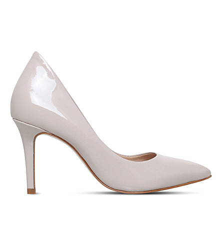 KG KURT GEIGER Bella patent-leather court shoes (Nude