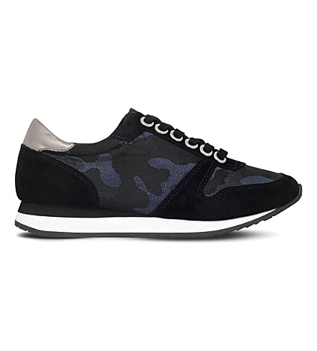 CARVELA Libby camouflage suede trainers (Blue