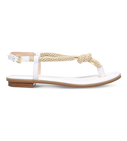 MICHAEL MICHAEL KORS Holly leather and rope sandals (White