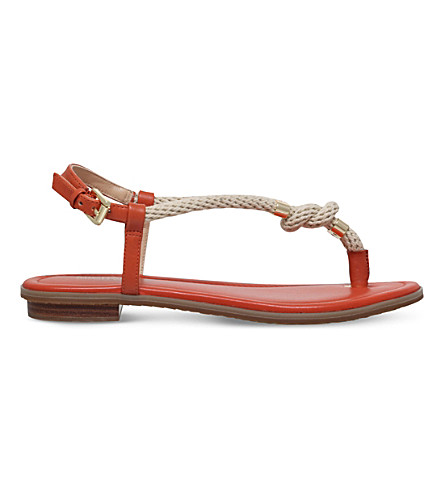 MICHAEL MICHAEL KORS Holly leather and rope sandal (Orange