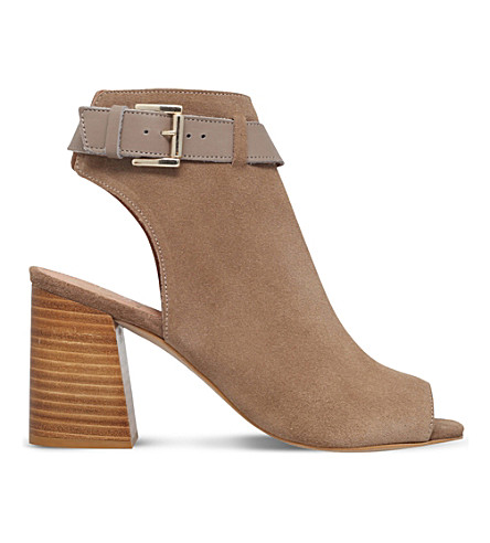 KG KURT GEIGER Ripple suede heeled sandals (Taupe