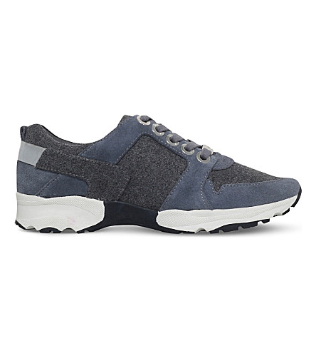 CARVELA Latin suede and textile trainers (Grey