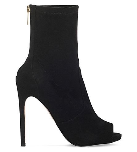 CARVELA Gesture zip-up suedette boots (Black