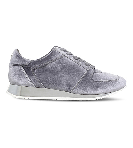 CARVELA Languid metallic velvet trainers (Grey