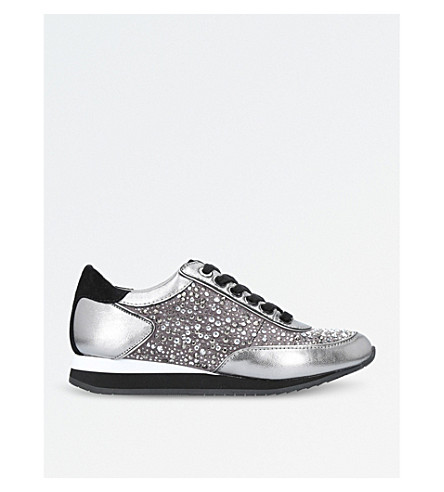 CARVELA Lemmy leather trainers (Gunmetal
