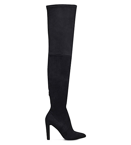 CARVELA Wren suedette over-the-knee boots (Black