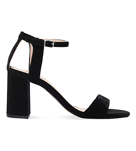 CARVELA Gigi velvet sandals (Black
