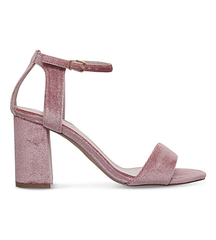 CARVELA Gigi cut-out velvet sandals (Nude