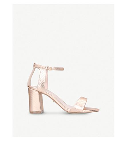 CARVELA Gigi snakeskin-effect cutout sandals (Bronze