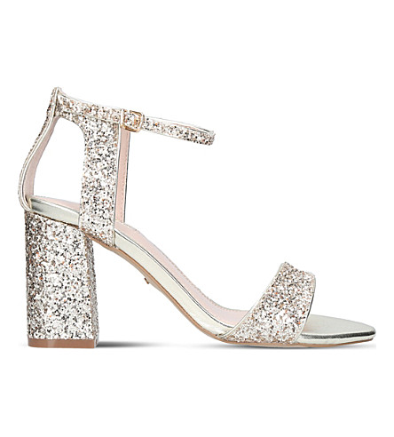CARVELA Gigi glitter heeled sandals (Gold