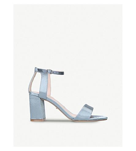 CARVELA Gigi satin cutout sandals (Pale+blue