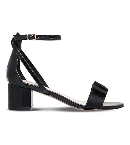 CARVELA Gertrude bow-detail patent sandals (Black