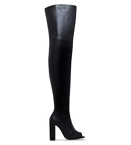 CARVELA Gear over-the-knee leather boots (Black