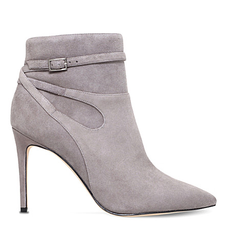 NINE WEST Tanesha suede heeled ankle boots (Grey