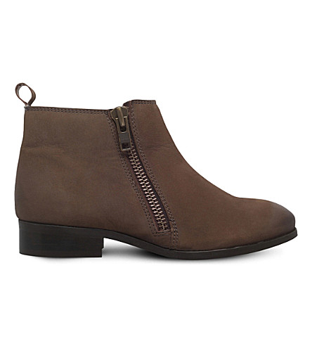 MISS KG Spitfire zipper-up leather boots (Taupe