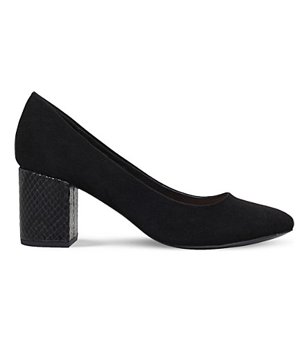 MISS KG Connie faux-suede courts (Black