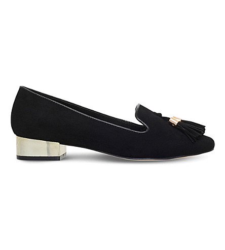 MISS KG Neville tasselled suedette loafers (Black