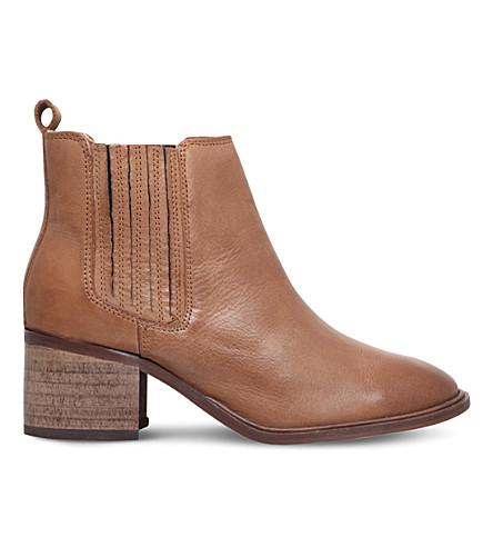 MISS KG Samba leather ankle boots (Camel
