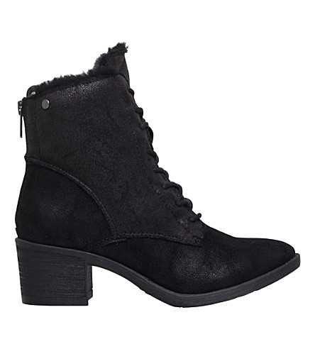 MISS KG Taite lace-up detail ankle boots (Black