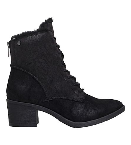 MISS KG Taite lace-up detail ankle boots (Black