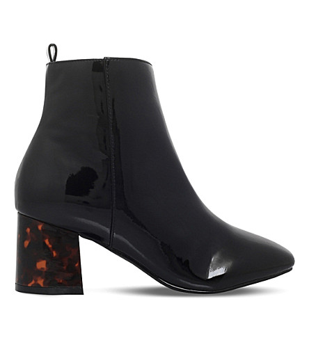 MISS KG Stone patent ankle boots (Black